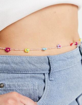 ASOS Curve ASOS DESIGN Curve waist beads with beaded daisys
