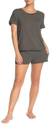 Eberjey Toni Striped Drawstring Pajama Shorts