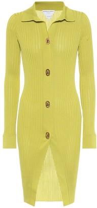 Bottega Veneta Cotton and silk longline cardigan