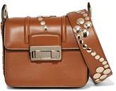 Lanvin Jiji Mini Studded Leather Shoulder Bag - Brown