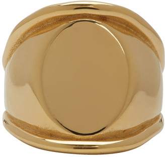 Bottega Veneta Gold Signet Ring