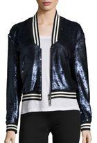 Rebecca Minkoff Raleigh Sequin Bomber Jacket