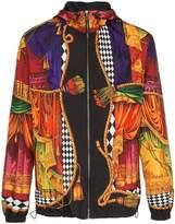 Versace sipario print hooded jacket