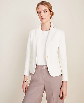Ann Taylor The Newbury Blazer in Piped Tweed