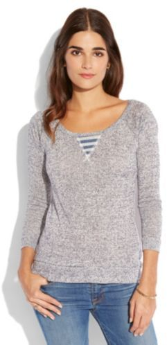 Lucky Brand Activewear Marled Pullover