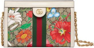 Gucci Small Ophidia Floral GG Supreme Canvas Shoulder Bag