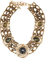 Oscar de la Renta Multistrand Crystal Collar Necklace