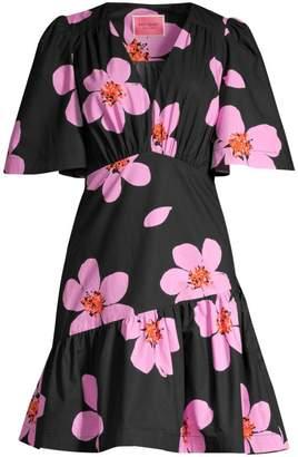 Kate Spade Grand Flora Empire-Waist A-Line Dress