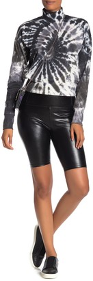 Love, Fire High Waisted Faux Leather Biker Shorts