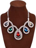GBLXF Rhinestone Crystal Necklaces Jewelry for Bridal Wedding