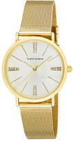 Vernier Goldtone Woven-Band Bracelet Watch