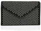Alaia Black suede studded envelope clutch