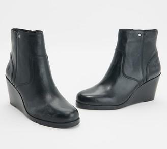 Frye Leather Wedge Booties - Emma
