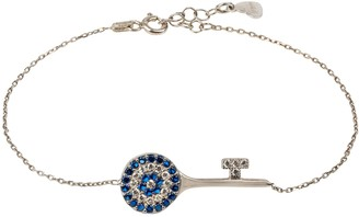 Latelita Evil Eye Key Bracelet Silver