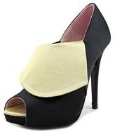 Patricia Rosales Flavie Peep-toe Canvas Heels.