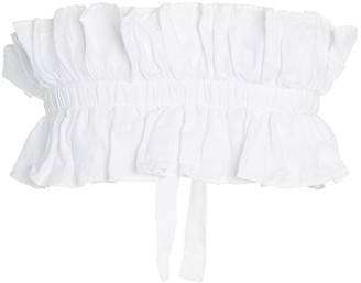 White Story Operato Pleated Linen Bustier
