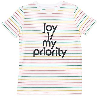 ban.do Joy Is My Priority Striped Classic Tee (Multi) Women's Clothing