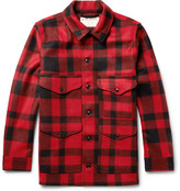 Filson Mackinaw Crusier Checked Virgin Wool Shirt Jacket - Red