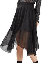 Topshop Tulle Asymmetrical Midi Skirt
