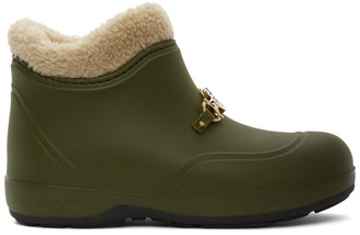 Gucci Green Interlocking G Horsebit Boots