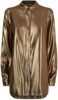 Alberta Ferretti Metallic Shirt