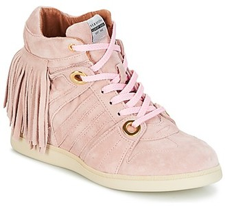 Serafini MANHATTAN women's Shoes (High-top Trainers) in Pink