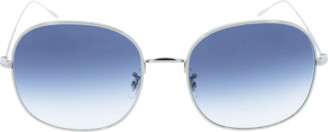 Oliver Peoples Silver and Blue Mehrie Sunglasses