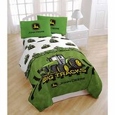 "John Deere Big Tracks 54"" x 75"" Full Sheet Set"