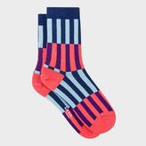 Paul Smith Women's Navy 'Candy Stripe' Socks