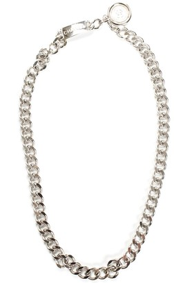 Chanel Silver-Tone Curb Chain Link Necklace Belt