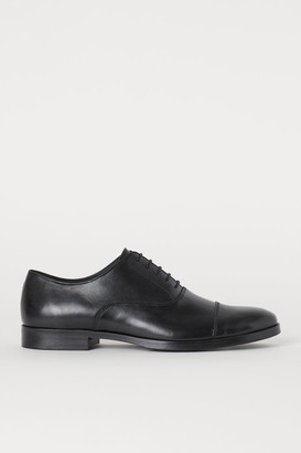 H&M Leather Oxford Shoes - Black