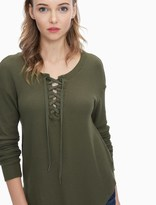 Splendid Thermal Lace Up Tunic
