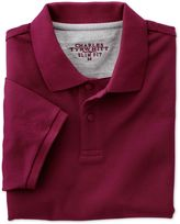 Charles Tyrwhitt Slim Fit Wine Pique Cotton Polo Size XS