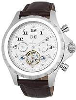 Burgmeister Men's Automatic Stainless Steel and Leather Casual Watch, Color:Brown (Model: BM346-115)