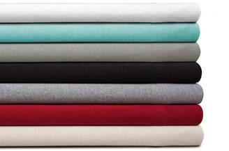 Spectrum Home Organic Cotton Jersey Black Twin Sheet Set Bedding