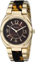 XOXO Women's XO5639 Gold and Tortoise Bracelet Watch