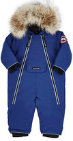Canada Goose Coyote-Fur-Trimmed Snowsuit-BLUE