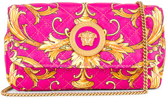 Versace Brocade Camera Bag in Fuchsia & Gold | FWRD