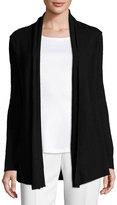 Neiman Marcus Cashmere Open-Front Cardigan, Black