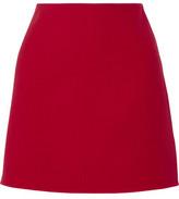 Theory Irenah Saxton Stretch Wool-Crepe Mini Skirt