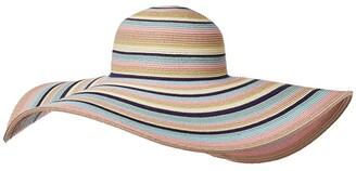 San Diego Hat Company UBX2721 Striped Floppy 8 Inch Brim Sun Hat (Pastel) Caps