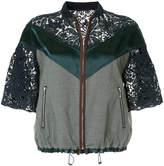 Kolor lace panel zipped jacket