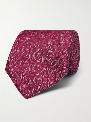 Charvet 8.5cm Floral Silk-Jacquard Tie