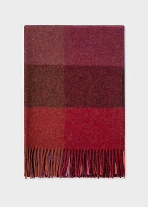 Paul Smith Maharam + Red Wool Check Blanket