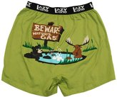 Lazy One Men's XL Beware Of Natural Gas Leisure Sleep Short Boxers (Green)