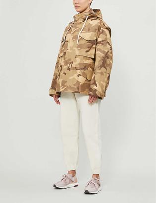 Reebok x Victoria Beckham Camouflage-print cotton military jacket
