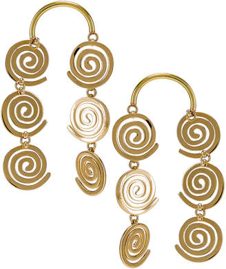 Modern Weaving Coil Dusters in Brass | FWRD