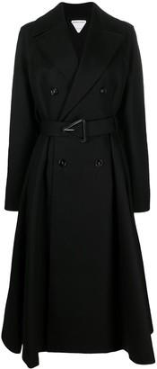 Bottega Veneta Double-Breasted Flared Coat
