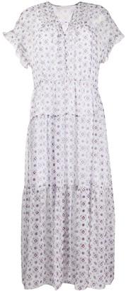 See by Chloe Geometric Print Midi Dress