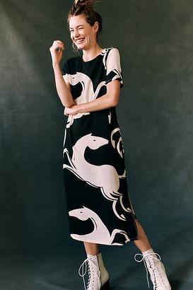 Corey Lynn Calter Caballos Midi Dress By in Black Size XS